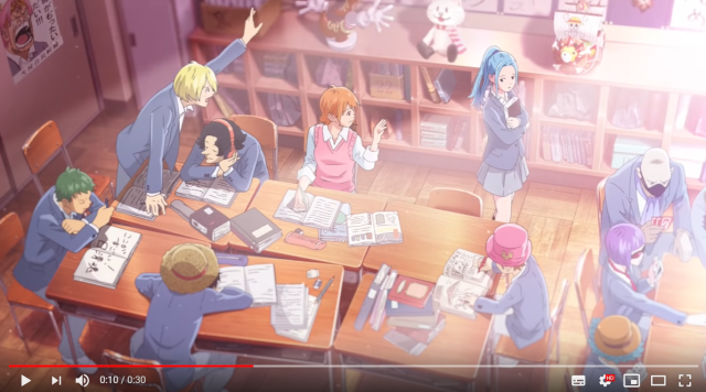 The Straw Hat Students are back with a new One Piece Japanese high school anime short【Video】
