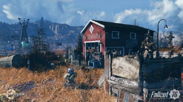 "Japanese Network TV asks Twitter user's permission for ""photo"" of a trash home…from Fallout 76"