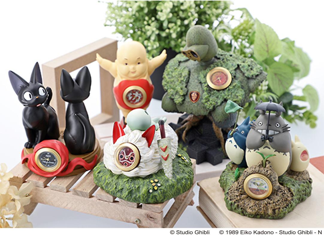 Studio Ghibli Anime Clocks Cute Merchandise Donguri Kyowakoku Spirited Away My Neighbor Totoro Neighbour Movies Princess Mononoke Laputa Castle In The Sky Kikis Delivery Service Characters1 Soranews24 Japan News