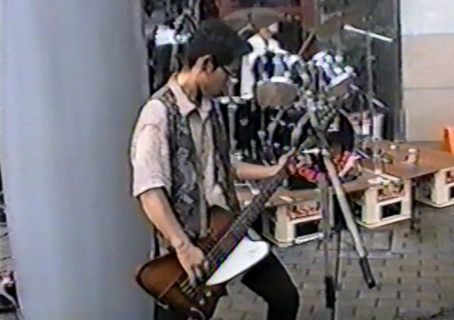 Video surfaces of Mr. Sato's days as an alternative rock bassist and amateur animator