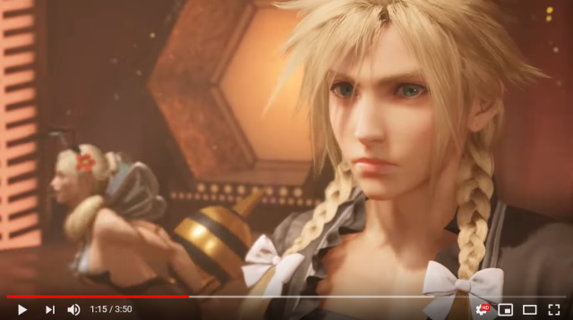 And now, without further ado, here's Final Fantsy VII Remake's Cloud in a dress【Video】
