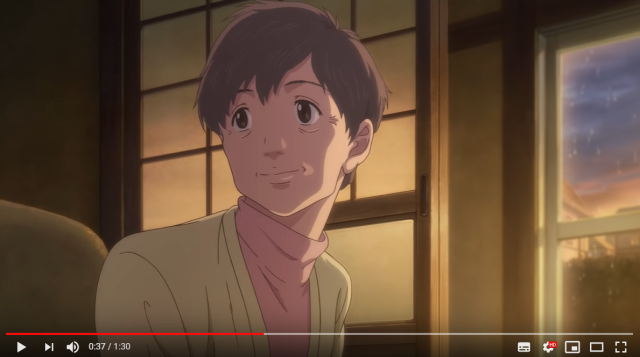 Beautiful short anime about elderly couple's love, meals looks like Ghibli film, is really miso ad