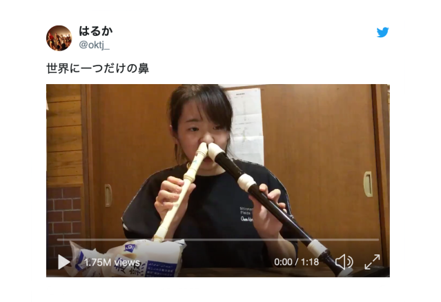 The One and Only Nose in the World – talented girl plays recorders using her nose [video]