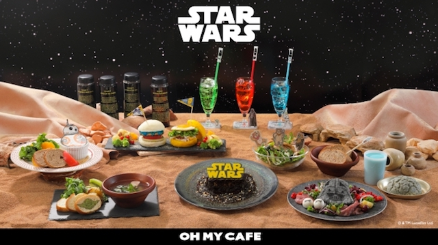 Eat, drink, and shop the world of Star Wars at five OH MY CAFE locations in Japan this winter