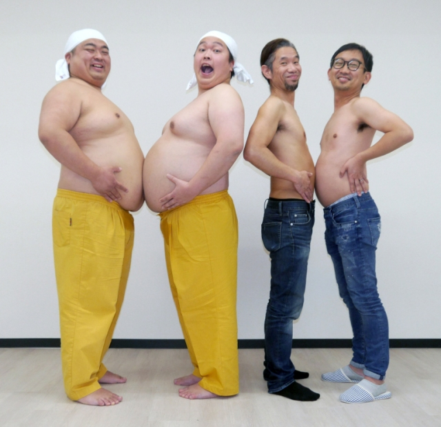 We interview Japanese comedy duo Yumbo Dump, learn how to make noises with our bellies