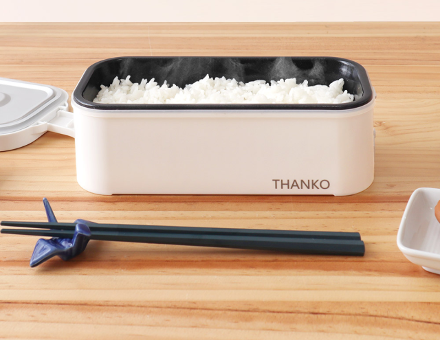Japan's one-person bento box-sized rice cooker can give you freshly cooked rice at the office