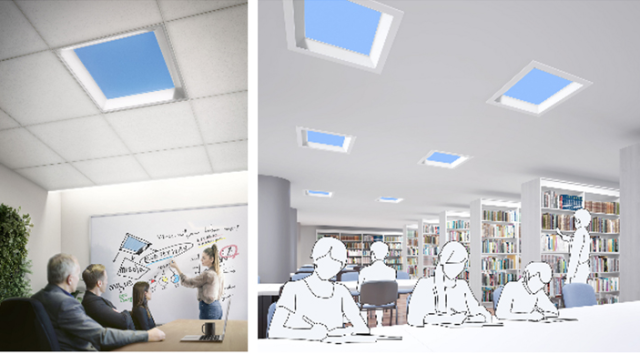 Mitsubishi's solution for stressed office workers in Japan: fake skylight video displays