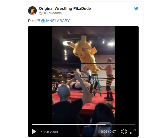 There's now a real-life professional wrestling Pikachu, and yes, he's totally crazy【Videos】