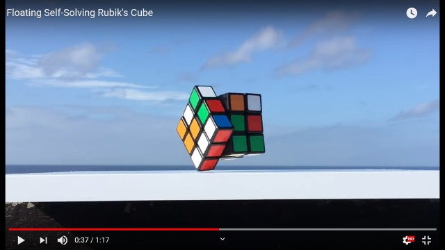 Cool automated Rubik's cube found at Maker's Faire floats, solves itself, blows our minds