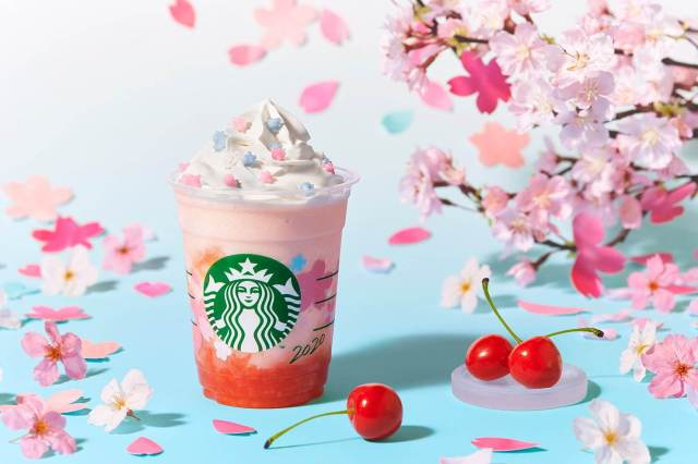 Starbucks Japan reveals second sakura Frappuccino for cherry blossom season 2020