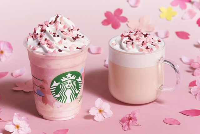 Starbucks Japan reveals first sakura Frappuccino for cherry blossom season 2020