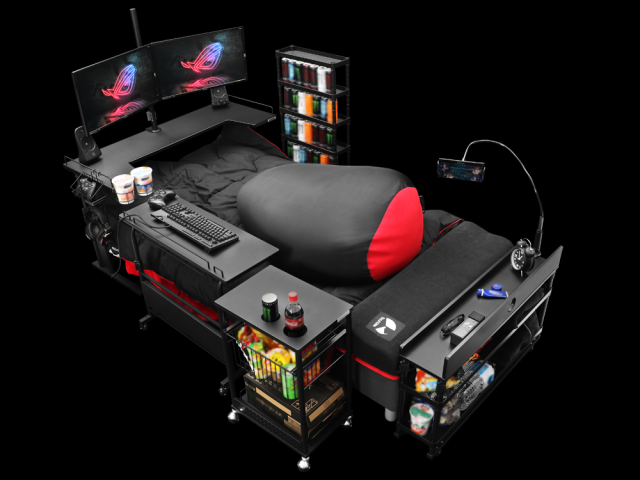 Japan goes beyond gaming desks with the gaming bed【Video】