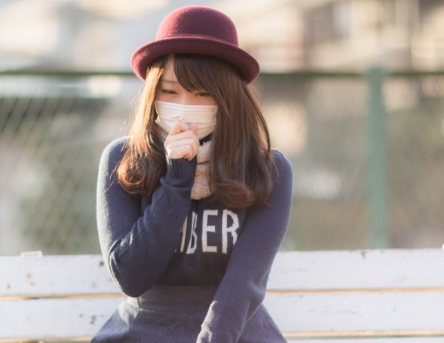 Japanese model cuts up her bra and turns it into a face mask