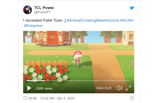 Animal Crossing: New Horizons player creates stunning replica of Pokémon's Pallet Town 【Photos】