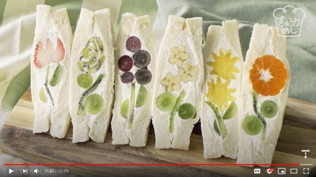 How to make amazing Japanese fruit flower sandwiches