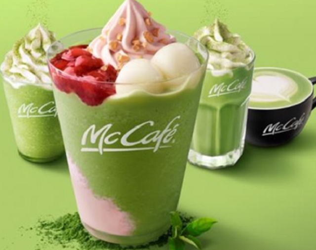 New Kyoto green tea dessert drinks join McDonald's Japan menu with ichigo and shiratama assists