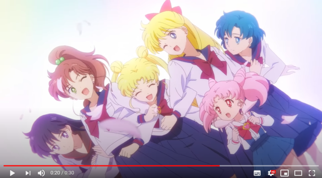 Brand-new Sailor Moon movie's first trailer shows new look for old school character designs【Vid】