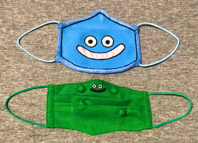 Japanese mom's hand-made Slime masks draw near, boost kid's cuteness and protection stats【Photos】