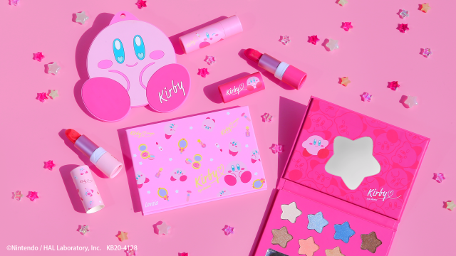 New line of Kirby cosmetics make makeup fun with star-shaped palettes and pink lush lipsticks