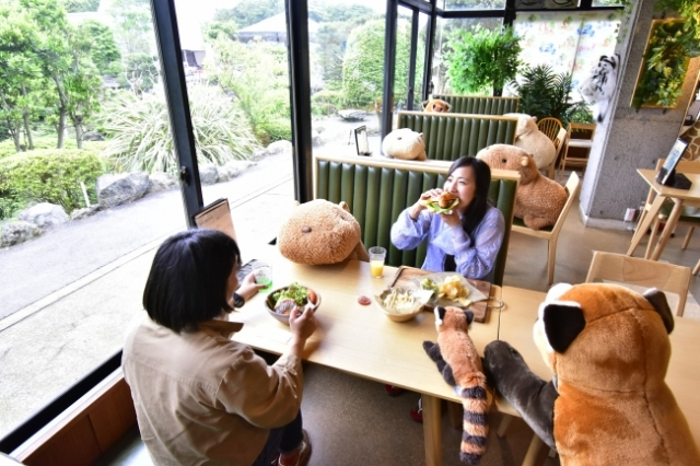 Social distanced dining is a cinch with these stuffed capybara companions【Photos】