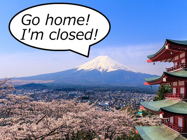 Mt. Fuji is officially closed for the year