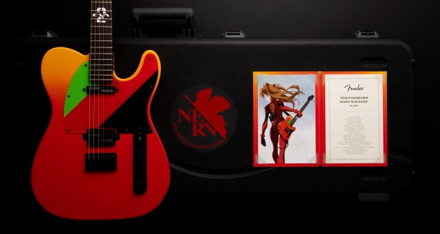 Limited edition Evangelion Asuka Telecasters on sale this June