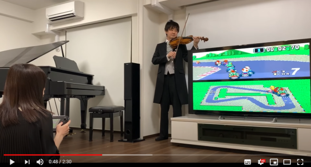 Japanese violinist covers Super NES soundtracks AND sound effects in amazing videos【Videos】