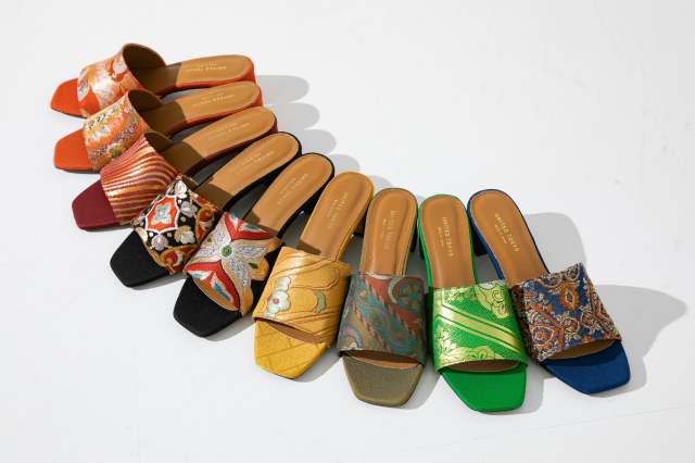 Japanese upcycle brand makes '80s obi sandals in collaboration with United Tokyo 【Photos】