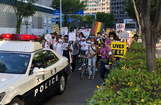 Over 2,000 people march in support of Black Lives Matter in Osaka