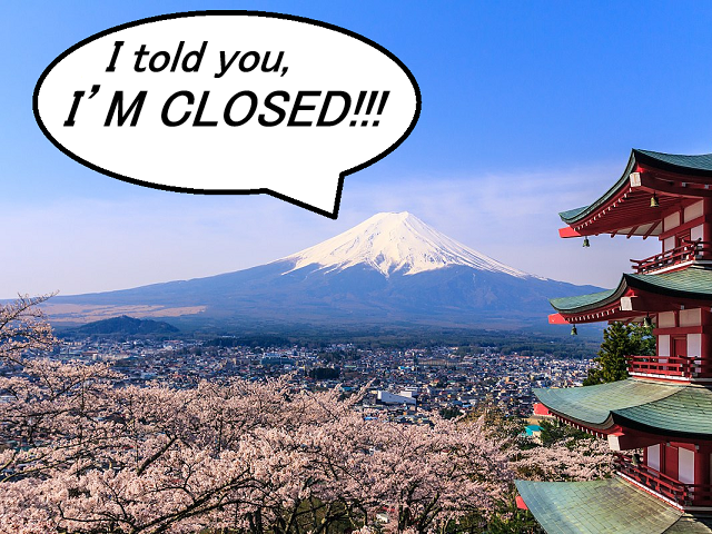 Barricades placed on Mt. Fuji as mountain officially closes because of coronavirus【Video】
