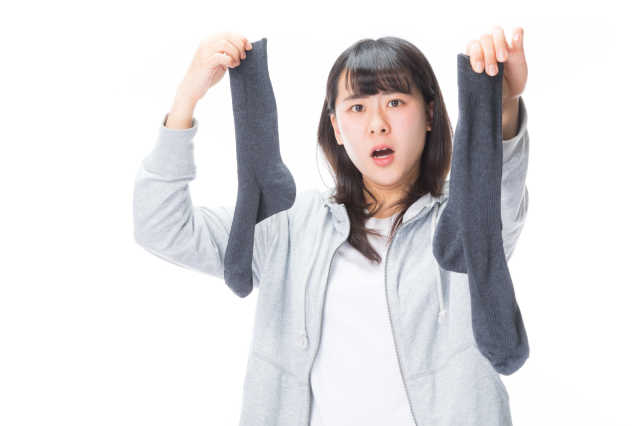 The odd phenomenon of some Japanese husbands making their wives put their socks on for them