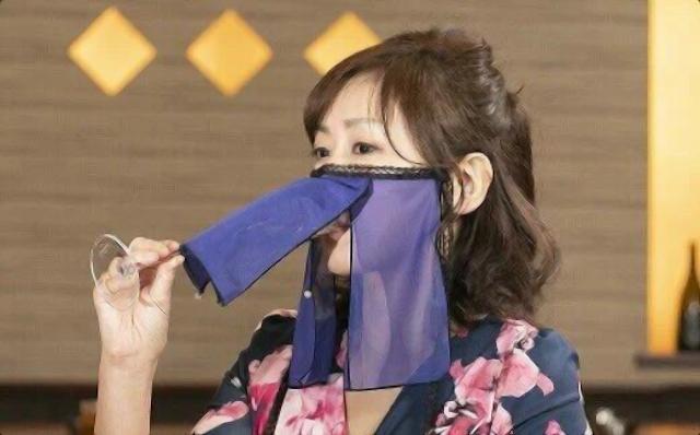 Japanese kimono maker creates alluring face mask for hostesses