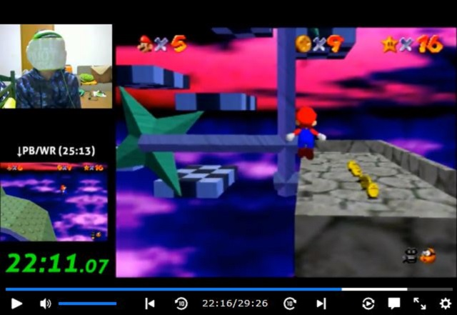 Japanese man breaks own world record for Super Mario 64 blindfolded speed run