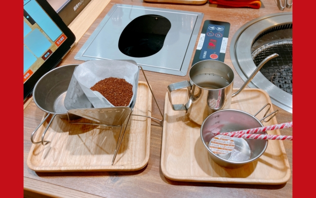 We sent Mr. Sato off to Yakiniku Camp, the restaurant where you cook your own food