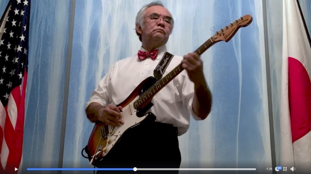 Consul General of Japan in New York plays and slays Jimi Hendrix style Star Spangled Banner【Vid】