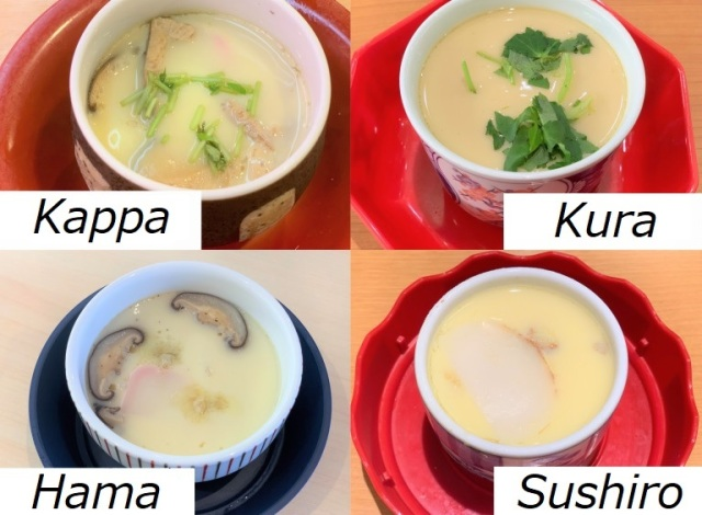 Which conveyor belt sushi place's chawanmushi egg custard is the best? We investigate【Taste Test】