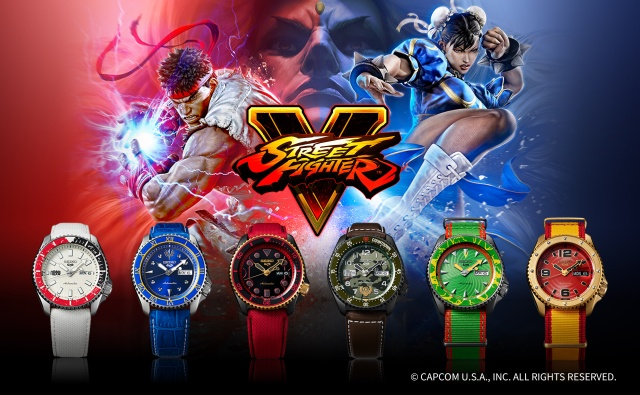 Seiko to release awesome sports watches inspired by popular Street Fighter V characters