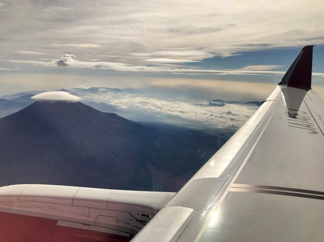 Fuji Dream Airlines is offering limited Mt. Fuji sightseeing flights