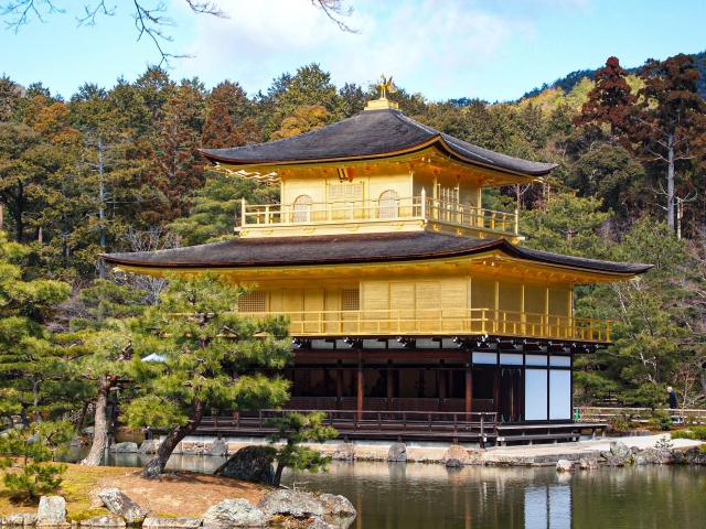 Kyoto's Kinkakuji creates unusual photo opportunity for visitors