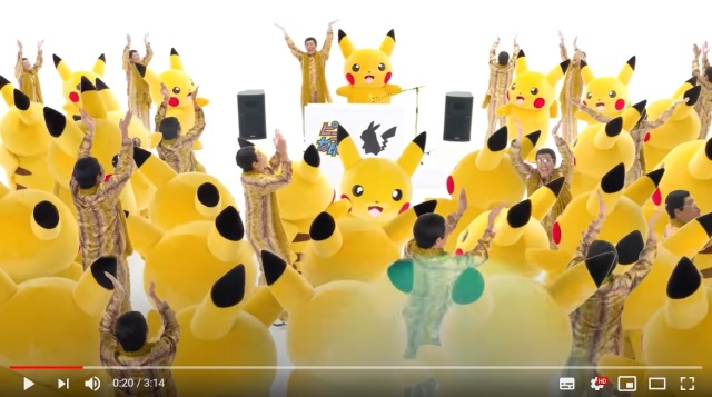 "Pikachu shocks ""Pen-Pineapple-Apple-Pen"" for new song ""Pika to Pico""【Video】"
