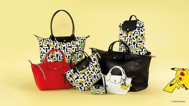 Luxury brand Longchamp announces electrifying new line of Pokémon bags