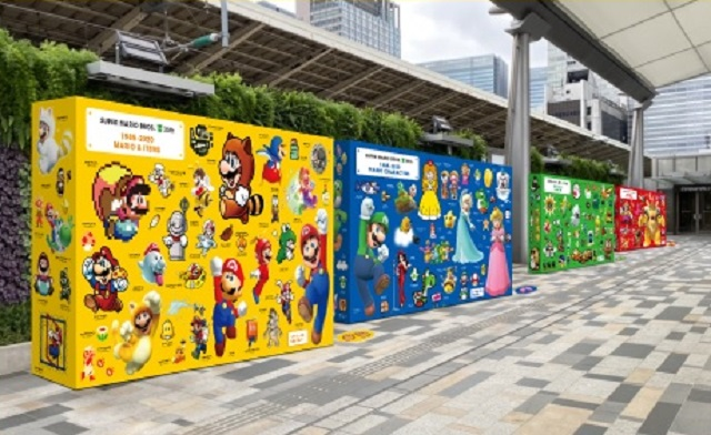 Tokyo train stations to host Super Mario box/character art displays to celebrate 35th anniversary