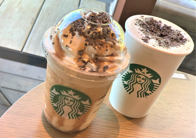 We try the new Chocolate Marron Frappuccino and Latte from Starbucks Japan 【Taste Test】
