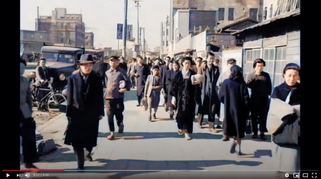 "Street footage from Hollywood movie ""Tokyo Joe"" shows post-war Shibuya colourised by AI 【Video】"