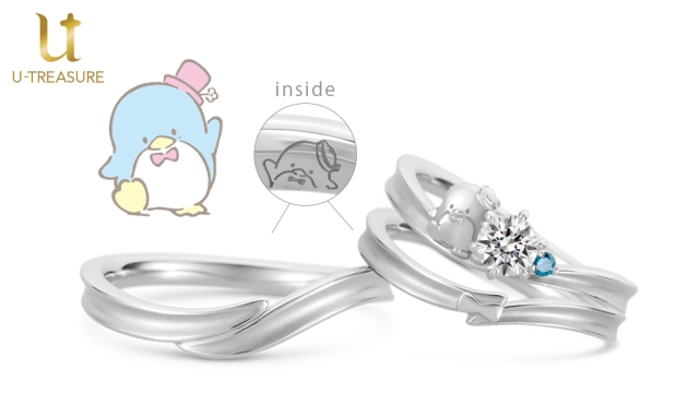 Japanese jeweler launches new engagement and wedding rings with Sanrio character Tuxedo Sam