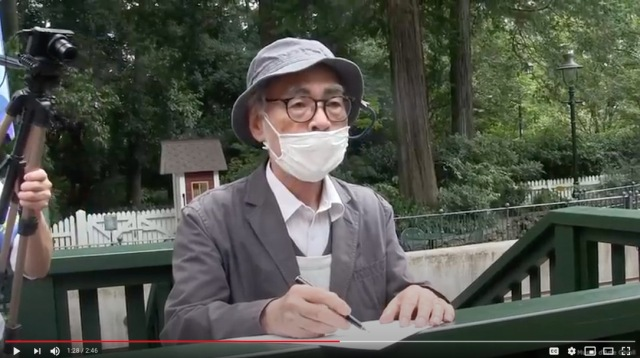 Hayao Miyazaki sketches cute characters for new signboard at the Ghibli Museum【Video】