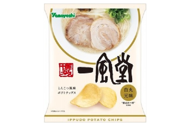 Tonkotsu ramen potato chips coming from Japan's most popular Hakata ramen chain