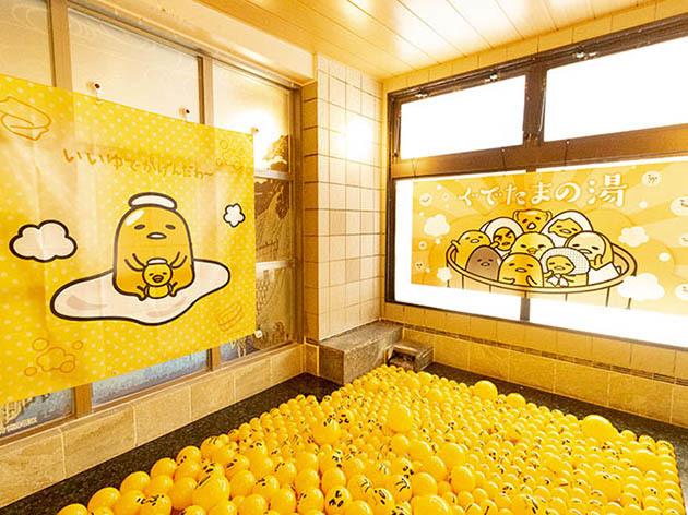 Tokyo spas offer limited-time Gudetama and Kero Kero Keroppi baths and goodies【Photos】