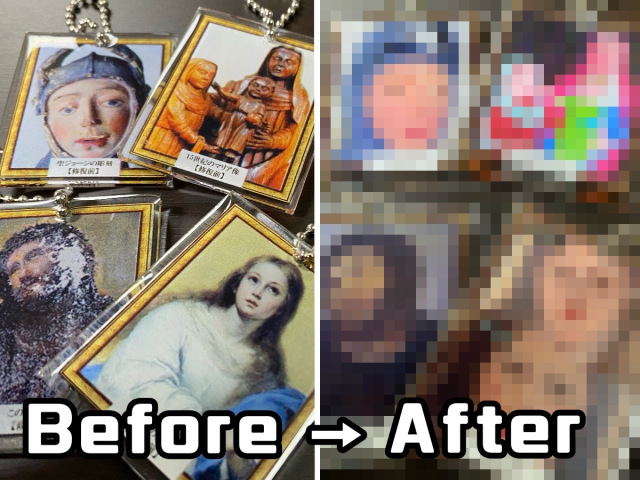 Botched art restorations become Japanese gacha capsule toys