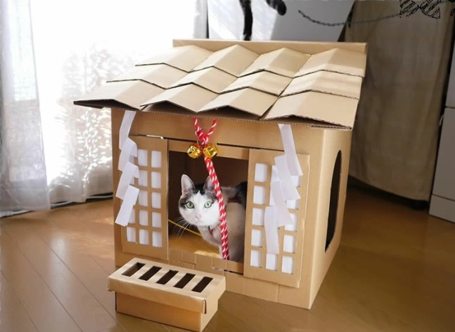 Why buy your cat a cat house when you can buy a cat shrine from Japan instead?